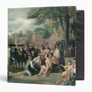 """El tratado de William Penn con los indios adentro Carpeta 1 1/2"""""""