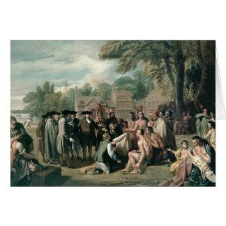 El tratado de William Penn con los indios adentro Tarjeta
