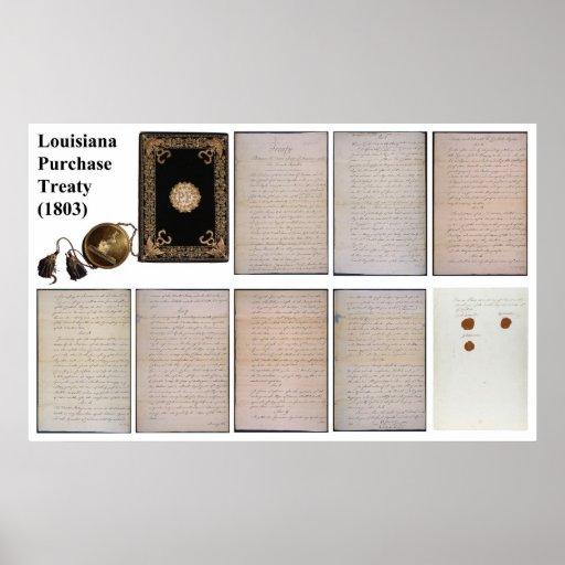 El tratado ORIGINAL de la compra de Luisiana de Póster