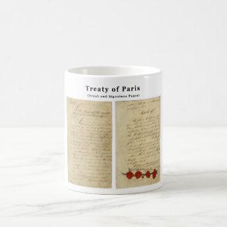 El tratado ORIGINAL de París 1783 Taza Básica Blanca
