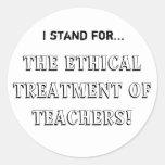 El tratamiento ético de profesores pegatinas redondas