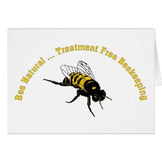El tratamiento natural de la abeja… libera la tarjeta de felicitación