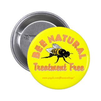 El tratamiento natural de la abeja libera pin redondo de 2 pulgadas