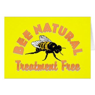 El tratamiento natural de la abeja libera tarjeta de felicitación