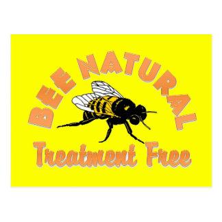 El tratamiento natural de la abeja libera tarjeta postal