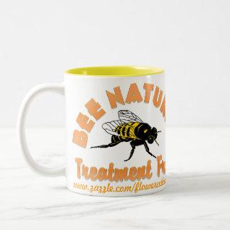 El tratamiento natural de la abeja libera taza de dos tonos