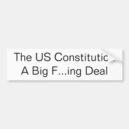 El trato grande del ing de los E.E.U.U. Constituti Pegatina Para Auto