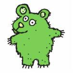 el travesaño ygreen el oso del dibujo animado esculturas fotograficas