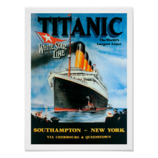 ¡El trazador de líneas más grande de los Titánico- Posters
