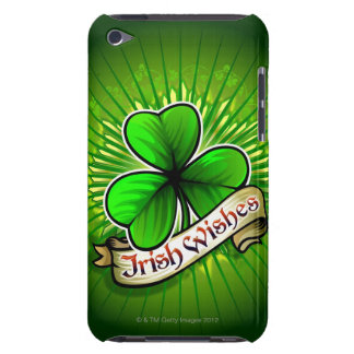 """El trébol con el """"irlandés desea"""" la bandera funda iPod"""