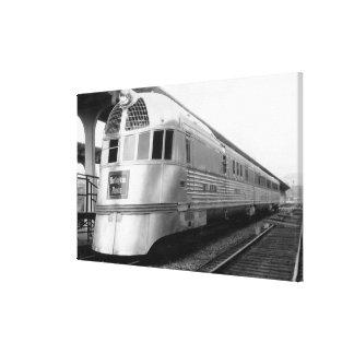 El tren aerodinámico de acero de ZepherStainless Lienzo Envuelto Para Galerías