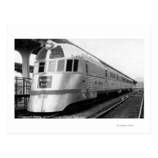 El tren aerodinámico de acero de ZepherStainless Tarjetas Postales