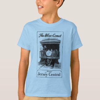 El tren azul del cometa embroma la camiseta de