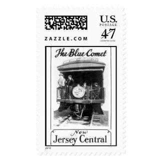 El tren azul del cometa sellos