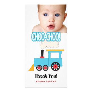 El tren de Choo Choo le agradece las tarjetas de l Tarjeta Fotográfica Personalizada