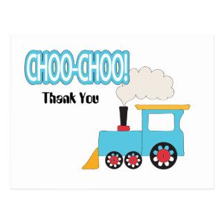 El tren de Choo Choo le agradece Postales
