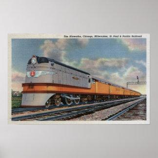 El tren de ferrocarril de Hiawatha 2 Posters