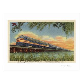El tren de ferrocarril del pájaro del tarareo tarjetas postales