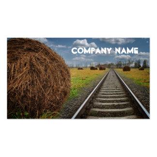 El tren de la agencia de viajes sigue la tarjeta tarjetas de visita