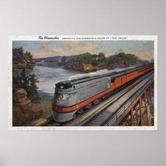 El tren de la línea aerodinámica de Hiawatha Póster