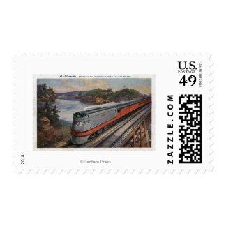 El tren de la línea aerodinámica de Hiawatha Sellos