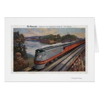 El tren de la línea aerodinámica de Hiawatha Tarjetón