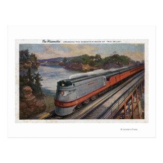 El tren de la línea aerodinámica de Hiawatha Postal
