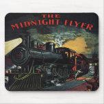 El tren de medianoche Mousepad del aviador Tapetes De Ratón