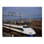 El tren de Shinkansen o de bala, Kyoto, Japón Tarjeta Postal