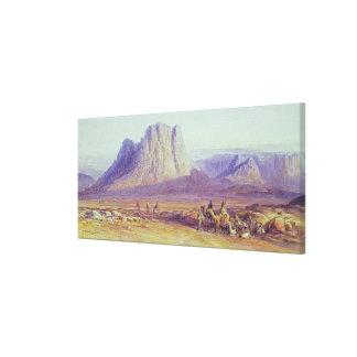 El tren del camello, Condessi, monte Sinaí, 1848 Lienzo Envuelto Para Galerías