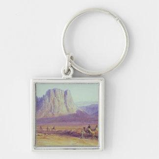 El tren del camello, Condessi, monte Sinaí, 1848 Llavero Cuadrado Plateado