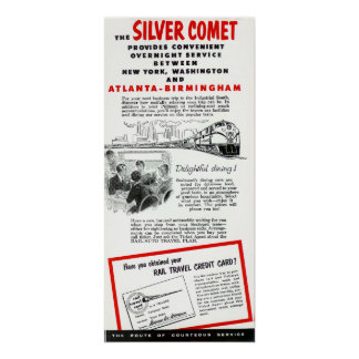 El tren del cometa de la plata del ferrocarril del impresiones