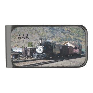 El tren del vapor sale de Silverton, Colorado Clip Para Billetes Plomizo