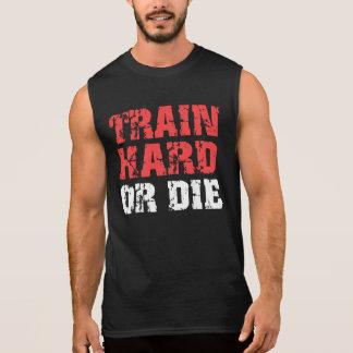 El tren difícilmente o muere (el rojo) playera sin mangas