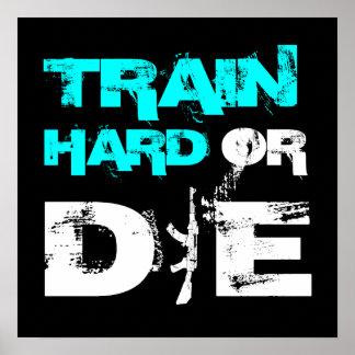 El tren difícilmente o muere - impresión del poste poster