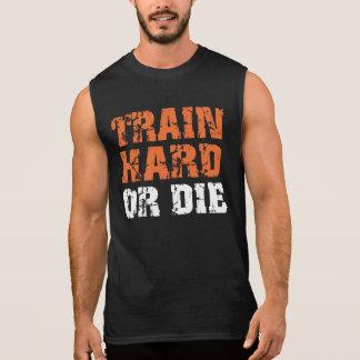 El tren difícilmente o muere (la oscuridad) playeras sin mangas