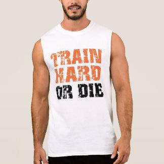 El tren difícilmente o muere playera sin mangas