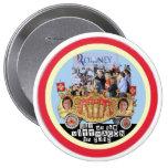 El tren en marcha 2012 de Romney está rodando Pin Redondo De 4 Pulgadas