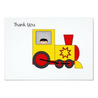"""El tren le agradece cardar invitación 3.5"""" x 5"""""""