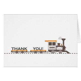 El tren le agradece cardar tarjeta pequeña