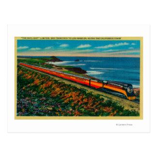 El tren limitado luz del día en California Postal