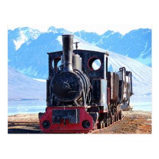 El tren más situado más al norte del mundo Svalba Postales