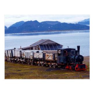 El tren más situado más al norte del mundo Svalba Postal