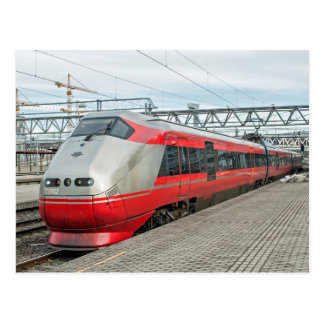 El tren noruego llega Oslo S Tarjetas Postales