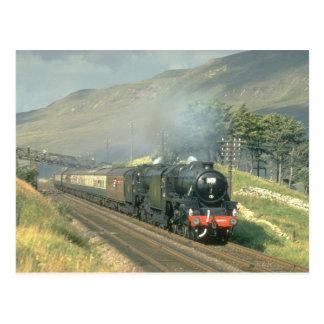 El tren por último vapor-acarreado del ferrocarril tarjetas postales