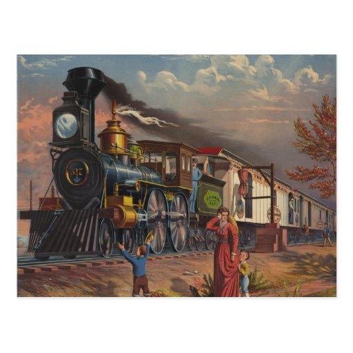 El tren rápido del servicio postal del correo a pa