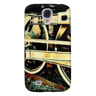 El tren rueda la caja del teléfono samsung galaxy s4 cover