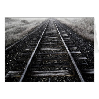 El tren sigue Notecard Felicitacion