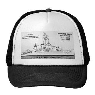 El trenzar de USS DD-540 Gorras
