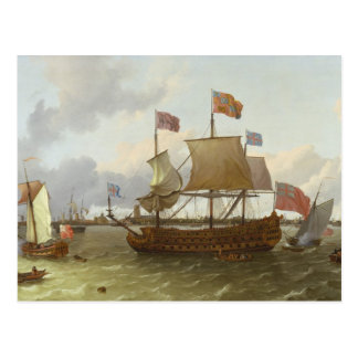 """El Tres-Amo """"Britannia"""" en Rotterdam, 1698 Postal"""